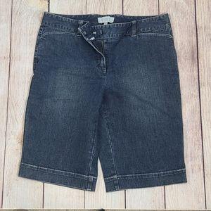 Talbots denim Bermuda shorts. 8P. B3